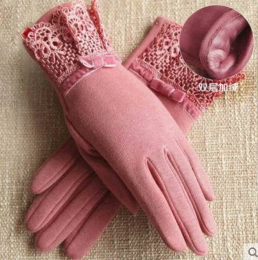 [해외]여자 우아한 레이스 장갑 터치 스크린 장갑 Polar Fleece Fabrics for Autumn & amp; 겨울 운전 Thernal 벨벳 장갑 G417/Women Elegant Lace Gloves Touch Screen Gloves Polar Fl