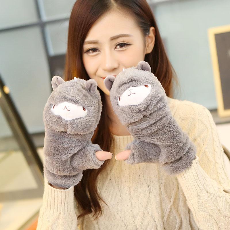 [해외]2017 겨울 러블리 여성 장갑 여성 귀여운 알파카 장갑 플립 트위스트 장갑 여성 따뜻한 핑거리스 장갑/2017 Winter Lovely Female Gloves Women Cute Alpaca Gloves Flip twist mittens female Warm
