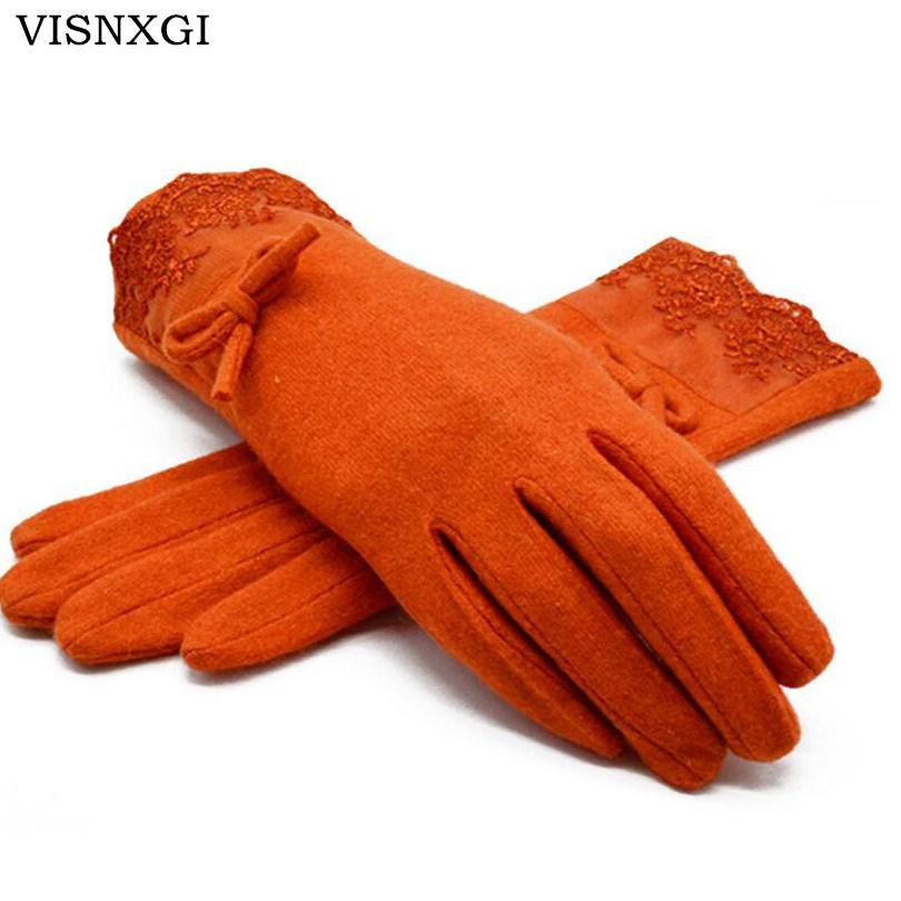 [해외]VISNXGI Winter 2017 New Women 웜 장갑 솔리드 레이스 캐시미어 장갑 손목 길이 패션 장갑 장갑 여성용 쥬얼리 장갑/VISNXGI Winter 2017 New Women Warm Gloves Solid Lace Cashmere Gloves