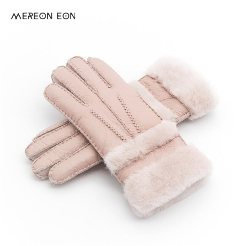 [해외]특수 여성 따뜻한 모직 장갑 여성 장갑 진짜 가죽 모피 모피 장갑 사랑스러운 소녀 양피 가죽 장갑 숙녀 들어/Special Women Warm Woolen Mittens Women Gloves Real Leather Wool Fur Gloves Lovely Gi