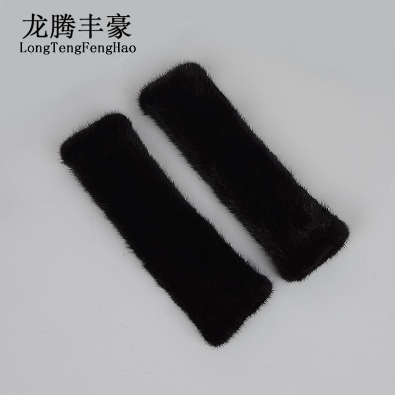 [해외]30cm 니트 장갑 100 %  모피 장갑 진짜 밍크 모피 장갑 긴 장갑 2017 겨울 두꺼운 장갑 fingerless 장갑/30cm knitted Gloves 100% genuine fur Mittens real mink fur gloves women long