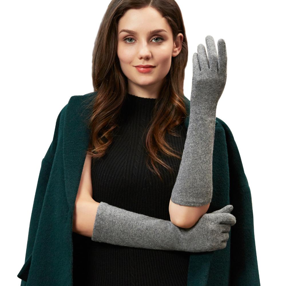 [해외]GSG 롱 울 장갑 여성용 터치 스크린 따뜻한 겨울 니트 패션 장갑 블랙 브라운 그레이 숙녀 팔꿈치 브랜드 장갑/GSG Long Wool Gloves Mittens for Women Touchscreen Warm Winter Knitted Fashion Glov