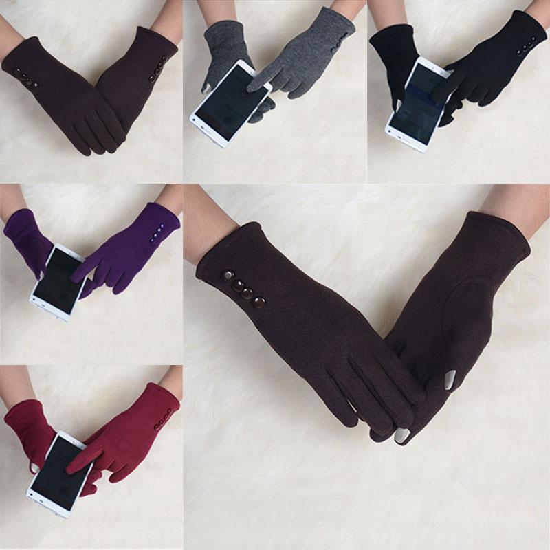 [해외]1 쌍 패션 여자 겨울 4 버튼 터치 스크린 장갑 야외 스포츠 따뜻한 장갑 장갑 장갑 캐시미어 -MX8/1 pair Fashion Womens Winter 4 Buttons Touch Screen Gloves Outdoor Sports Warm Gloves Mi