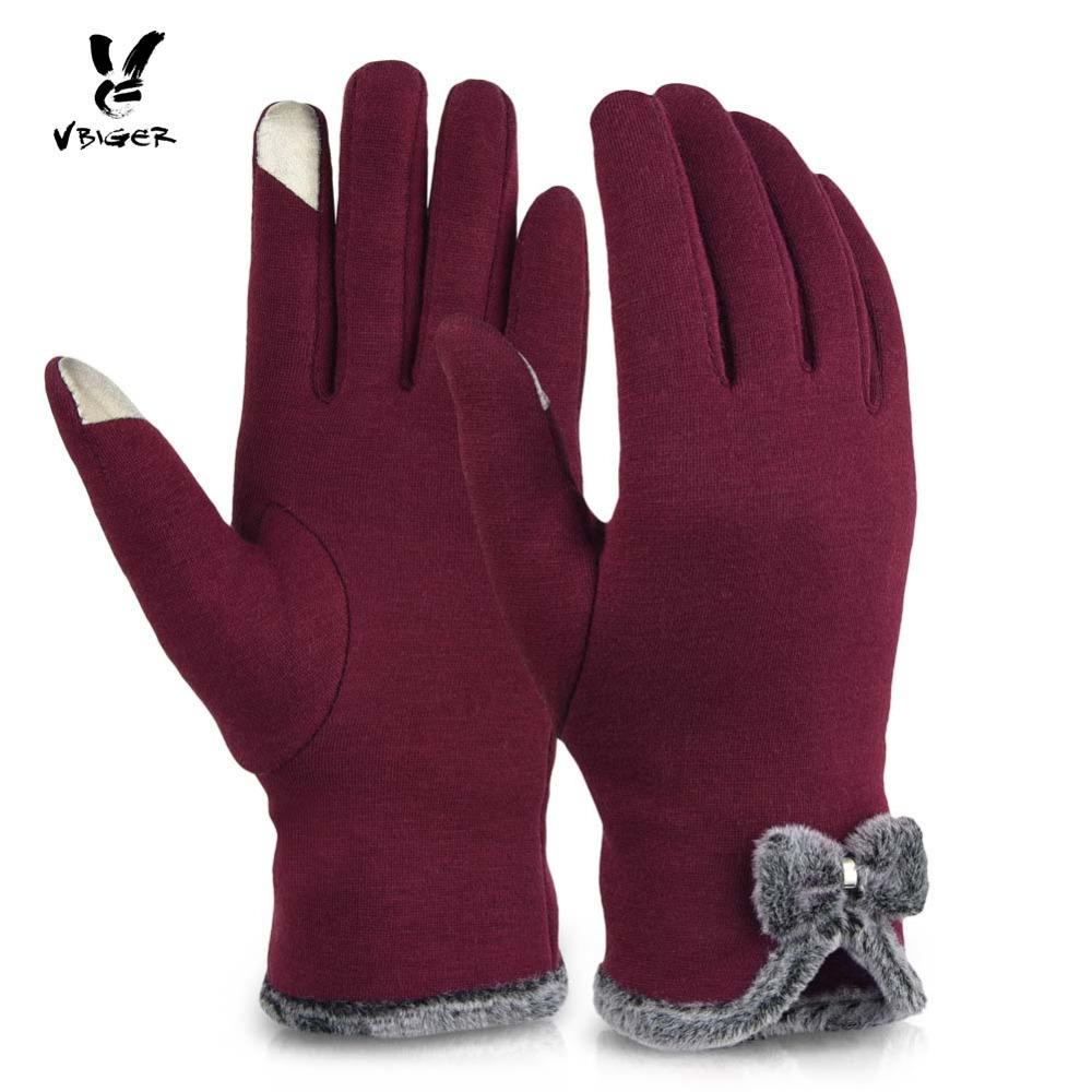 [해외]Vbiger 여성 장갑 두꺼운 터치 스크린 운전 장갑 바느질 겨울 따뜻한 딱지 패션 전체 손가락 단단한 탄성 장갑/Vbiger Women Gloves Thick Touch Screen Driving Gloves Bowknot Winter Warm Mitten F