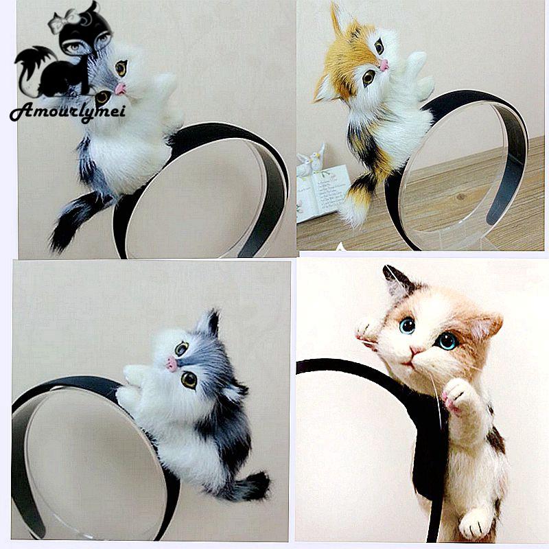 [해외]?새 스타일 로리타 Kawaii 고양이 헤어 밴드 머리띠 머리 장식 파티 선물 머리 장식 후프 액세서리 여자와 여자/ New Style Lolita Kawaii Cat Hair Bands Headband Headwear Party Gift Headdress Ho