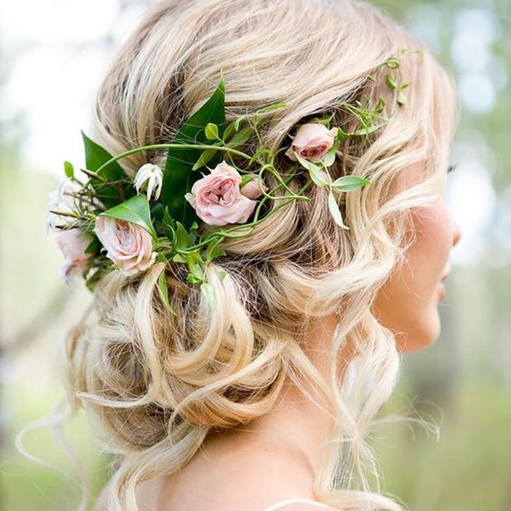[해외]결혼식 신부 들러리 Boho 꽃 꽃 축제이 마 헤드 밴드 갈 랜드 헤어 액세서리 파라 엘 펠로 2018 Casual Bandeau Cheve/Wedding Bridesmaid Boho Floral Flower Festival Forehead Headband Ga