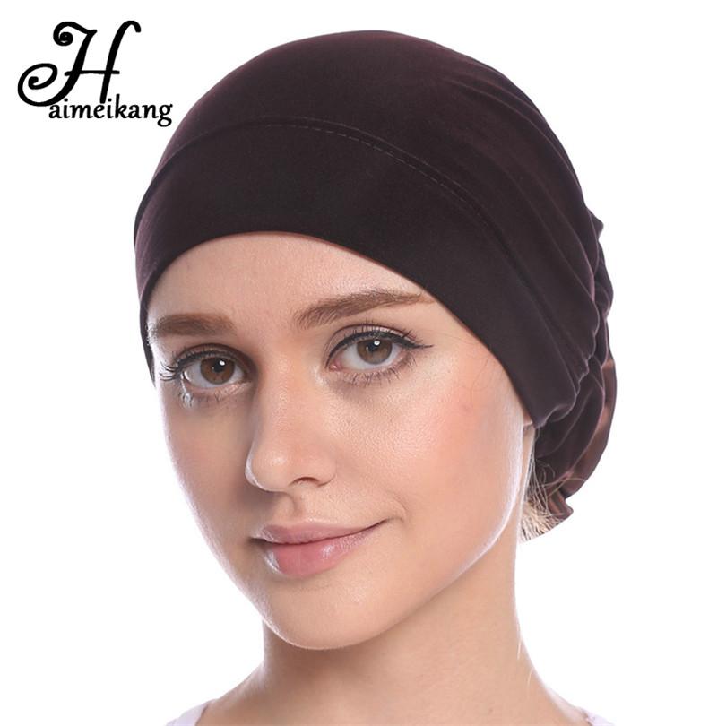 [해외]Haimeikang 코튼 여성 이슬람 스트레치 터번 머리띠 여성 꽃 머리 밴드 Chemo 모자 머리 랩 모자 헤어 액세서리/Haimeikang Cotton Women Muslim Stretch Turban Headband Women Flower Hair Band