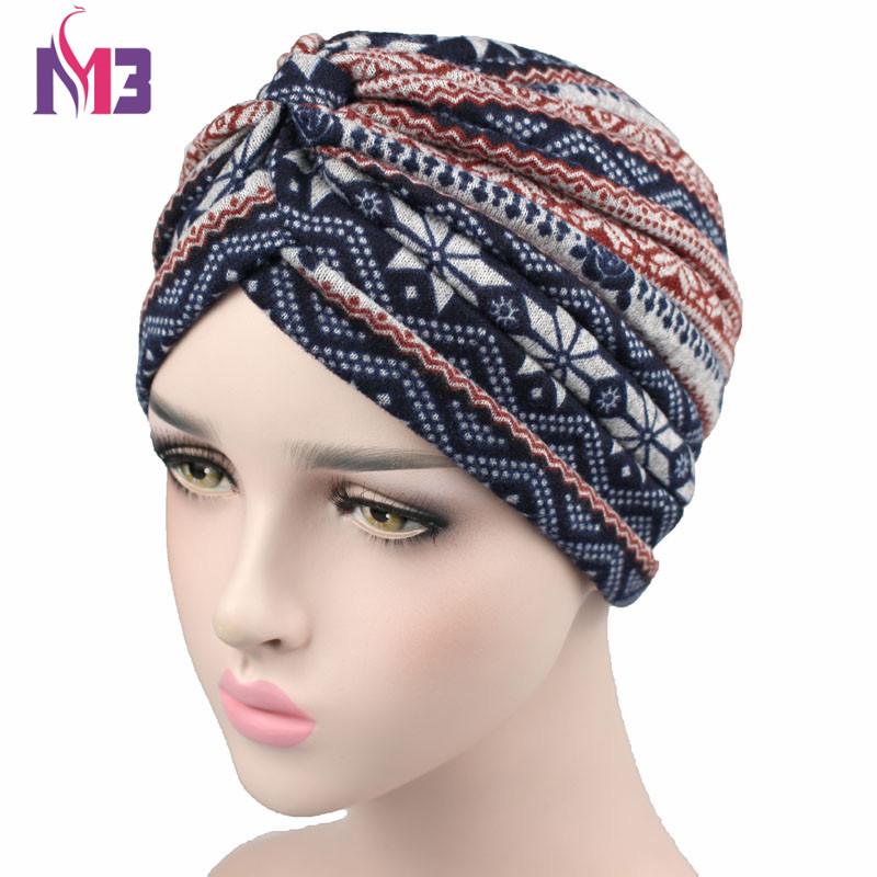 [해외]새로운 패션 여성 울 Turban 따뜻한 보헤미아 스타일 니트 Turban 머리띠 모자 여성을이슬람 Hijab Turbante/New Fashion Women Wool Turban Warmer Bohemia Style Knitted Turban Headband