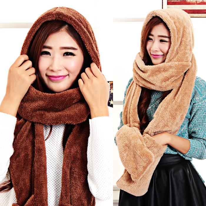 [해외]가을 겨울 여성 & 스카프 양털 겨울 모자 스카프 모자 겨울 스카프 부모 - 자식 스카프/Autumn and winter women&s thermal fleece winter hats scarf gloves one piece set kids winter