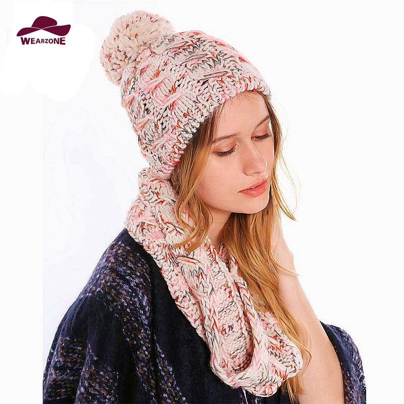 [해외]겨울 모자 및 스카프 따뜻한 여성 두꺼운 니트 burderry에 대 한 설정 반지 스카프 및 뜨개질 모자 세트 여자 스카프 포장 모자 세트/Winter Hat and Scarf Set for women warmer thicken knitted burderry R