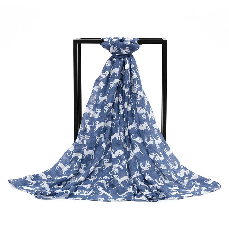 [해외]?2017 새로운 패션 봄 여름 고양이 인쇄 스카프 말 스카프 10pcs / lot/ 2017 new fashion spring summer cat print scarf horse scarf 10pcs/lot