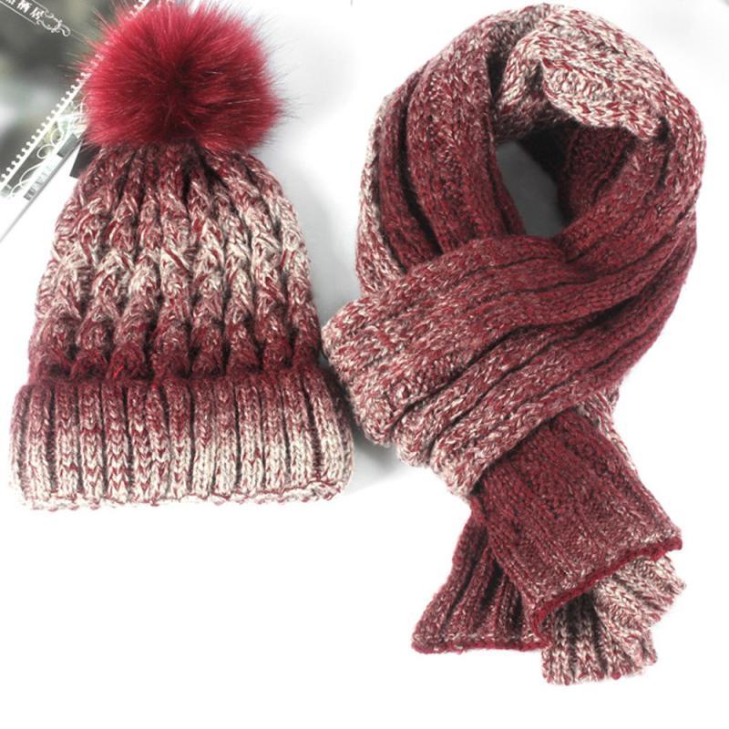 [해외]2017 숙녀 모자 스카프 세트 겨울 따뜻한 연인 니트 비니 모자 니트 스카프 두 개 세트 모자 여성 다채로운 부드러운 숙녀 set3/2017 ladies Hat Scarf set Winter warm Lovers Knitted Beanie Hat Knitt S