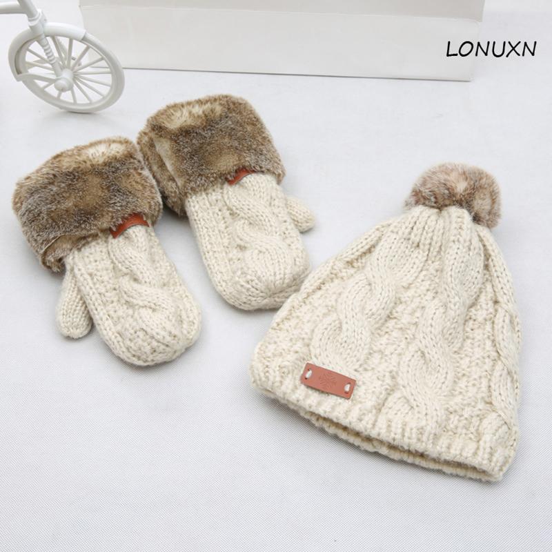 [해외]고품질 3 조각 / 많은 양모 모자 + 스카프 + 장갑 가을 겨울 따뜻한 사랑스러운 한국어 니트 정장 소녀 레이디 생일 크리스마스 선물/High quality 3 pieces/lot wool hat+scarf+glove autumn winter warm love