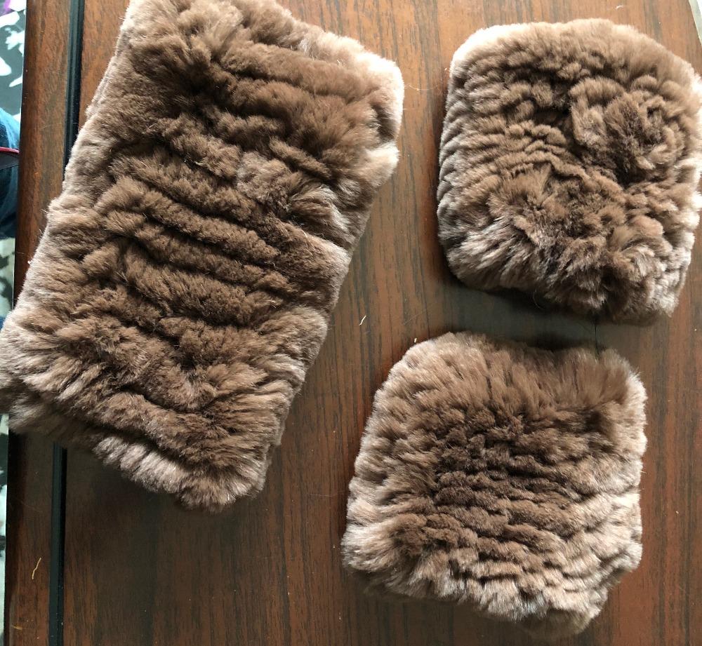 [해외]진짜 렉스 래빗 모피 핸드 편직 장갑 & headbands이업만을목록 제발 donot 구매 한 세트/Real Rex Rabbit Fur Hand Knitting set of Mittens & headbands This listing only for