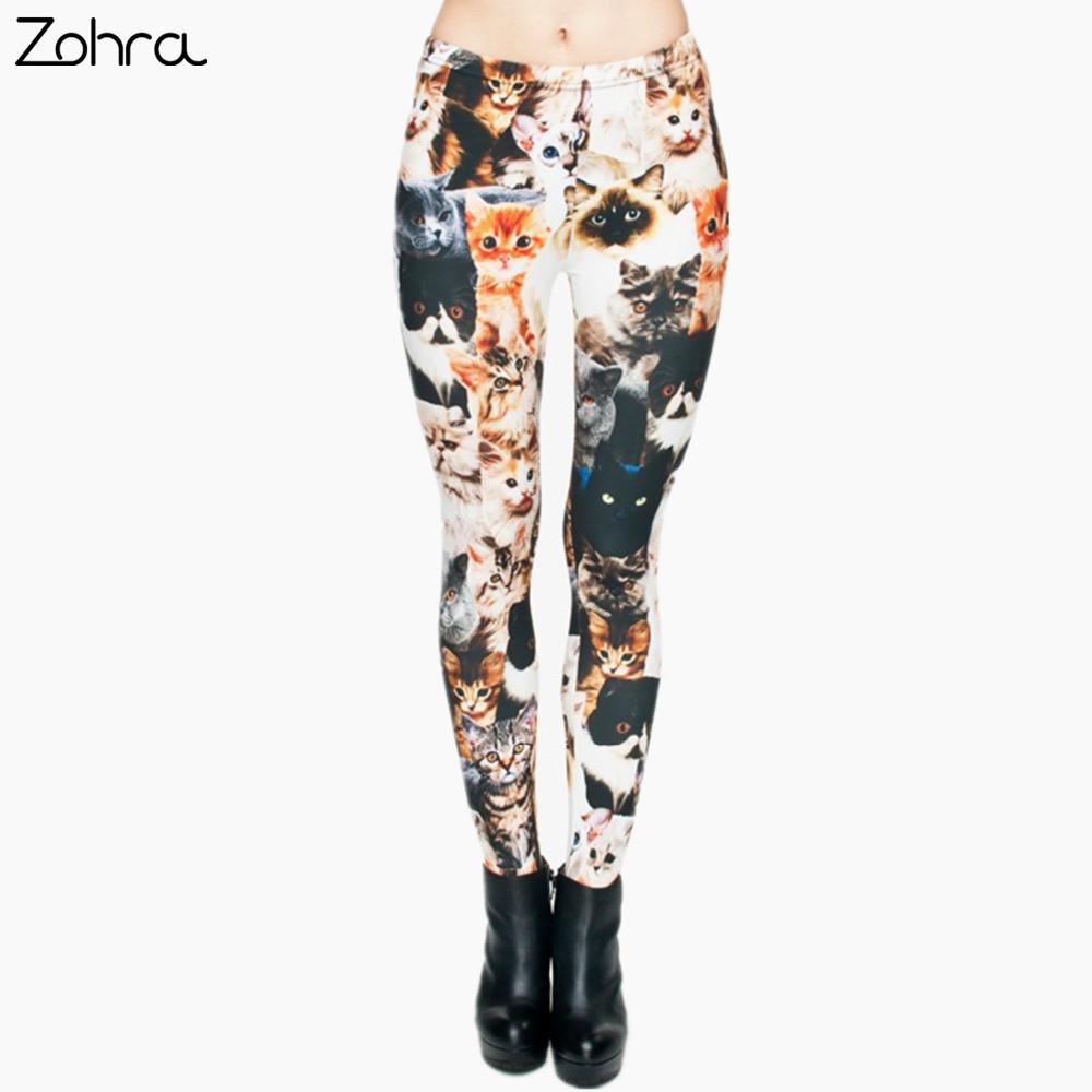 [해외]조라 패션 동물 슬림 맞는 바지 캐주얼 바지 레깅스 레깅스 고양이 3D 전체 인쇄 펑크 여성 & S 피트니스 모양/Zohra Fashion Animal shapes Cats 3D Full Printing Punk Women&s fitness Legging