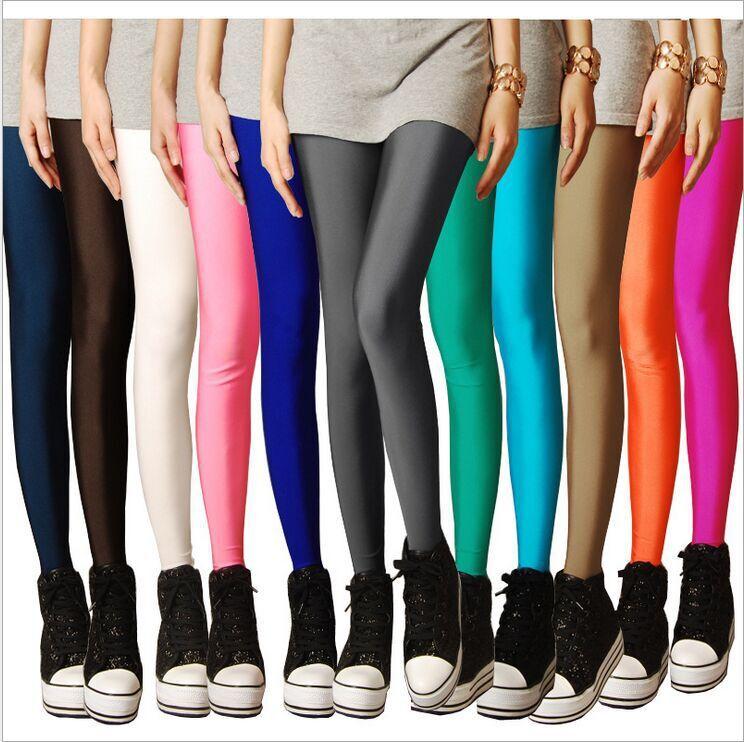 [해외]새로운 봄 2016 바지의 구분은 여름 표시 얇은 얇은 섹션 9 점은 7 색 광택 바지 레깅스/The new spring 2016 nine minutes of pants Summer show thin thin section nine points leggings