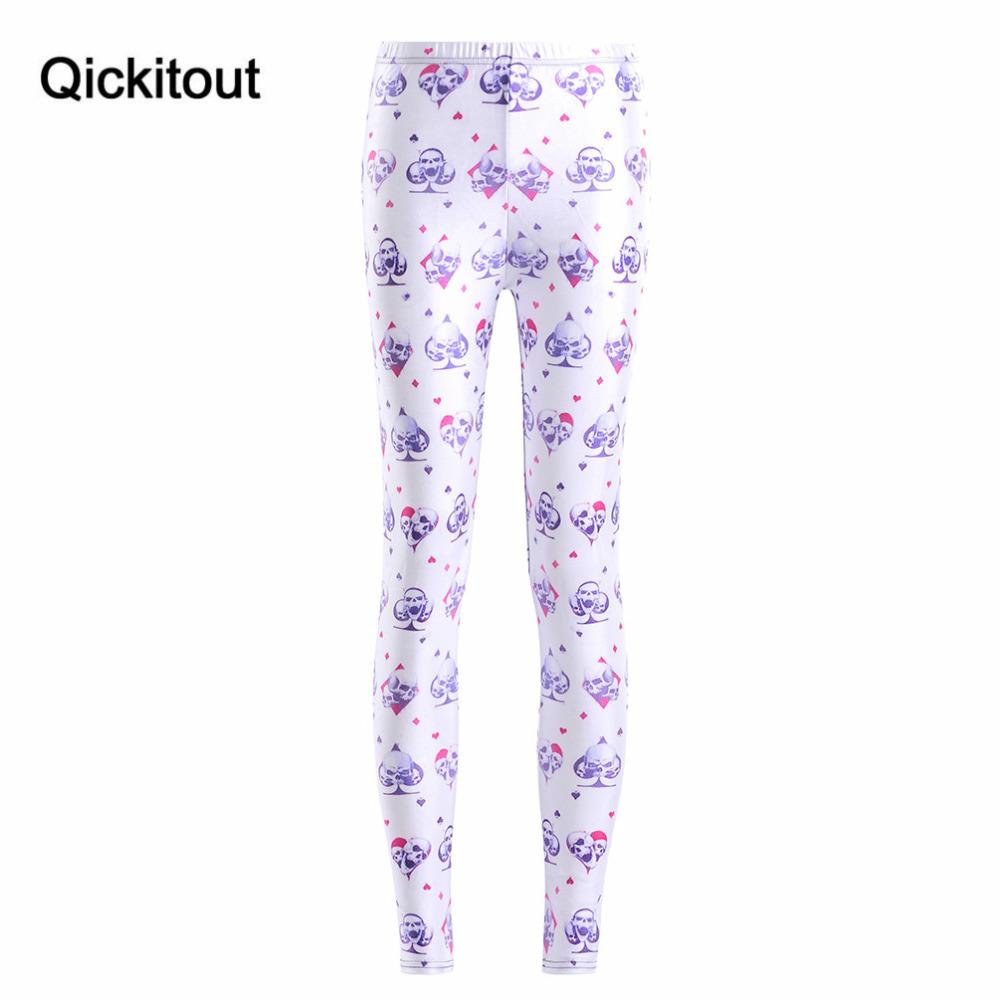[해외]Qickitout Leggings 2016 새로운 여성 및 여름용 휘트니스 디지털 인쇄 악마의 해골 스페이드 바지 펜슬 바지 레깅스/Qickitout Leggings 2016 New Women&s legging Summer Fitness Digital Print