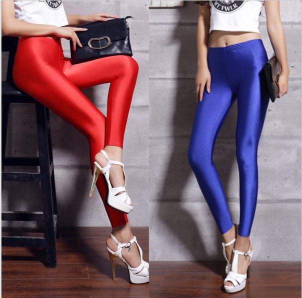 [해외] 여성 스패츠 레깅스 네온 스판덱스 레깅스 스카프 레깅스 하이 웨스트 스킨 스키니 스팽글 레깅스/Free shipping women&s leggings colors neon spandex leggings high waist stretch skinny shiny