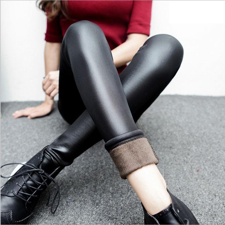 [해외]S-XXL 겨울 레깅스 여성용 패션 인조 가죽 레깅스 플러스 사이즈 웜 솔리드 레깅스 여성용 바지 따뜻한 여성용 바지/S-XXL Winter Leggings for Women Fashion Faux Leather Leggins Plus Size Warm Soli