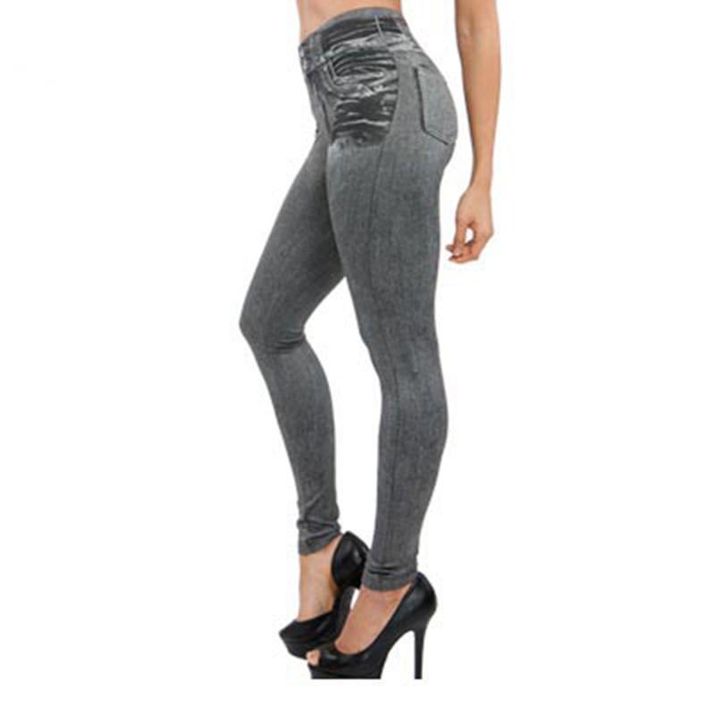 [해외]새로운 2016 여성 가을 ??Jegging 청바지 레깅스 스키니 슬림 얇은 고탄력 허리 펜슬 바지 블랙 데님 레깅스 여성 95Z/New 2016 Women Autumn Jegging Jeans Leggings Skinny Slim Thin High Elasti
