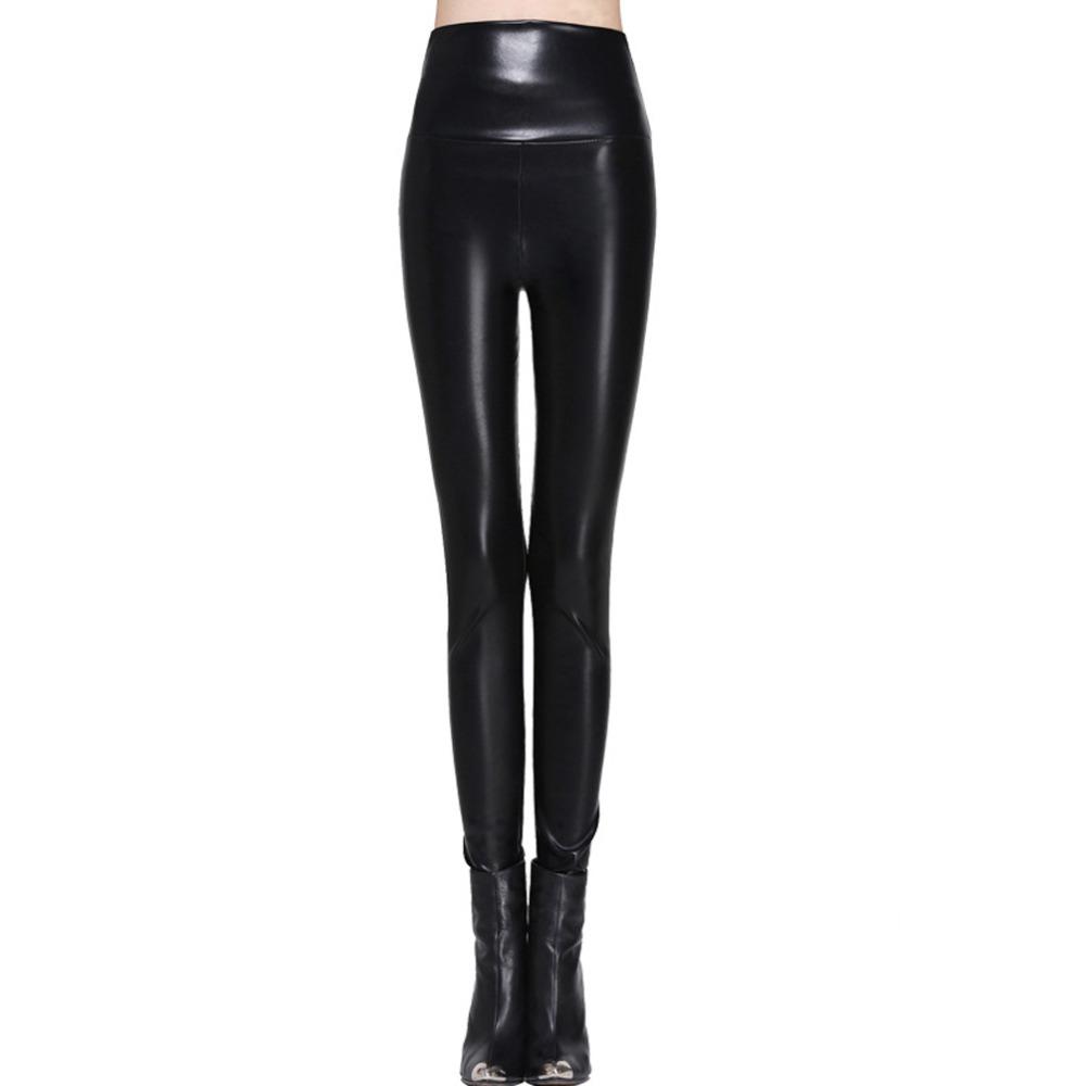 [해외]여성 레깅스 가짜 가죽 고품질 슬림 레깅스 플러스 사이즈 높은 탄성 섹시한 바지 leggins s-xl 가죽 부츠 레깅스/women leggings faux leather high quality slim leggings plus size High elastici