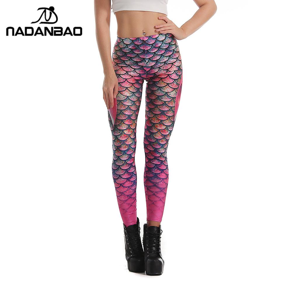 [해외]NADANBAO 여름 스타일 저울 여성용 레깅스 3D 인쇄 된 인어 레깅스 그라데이션 레깅스 바지 발꿈치/NADANBAO Summer Style Scale Women leggings 3D Printed Mermaid  leggins Gradient leggins