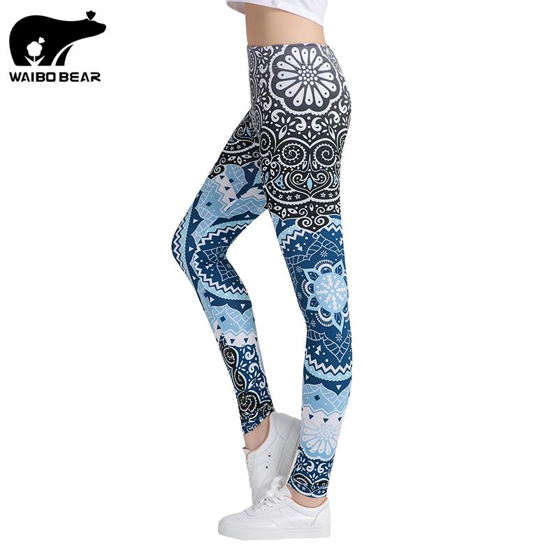 [해외]여성 피트니스 레깅스 패션 레깅스 아즈텍 라운드 옹 브르 프린팅 레깅스 여성 레깅스 섹시한 바지 하이 웨스트 바지 WAIBO BEAR/Women Fitness Leggings Fashion Legging Aztec Round Ombre Printing Leggi