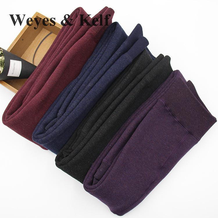 [해외]Weyes & amp; 켈프 가을 겨울 화려한 코튼 레깅스 편안한 플러스 사이즈 두꺼움 따뜻한 여자 레깅스 여자 겨울 레깅스 Feminina/Weyes & Kelf Autumn Winter Colorful Cotton Leggings Comfort