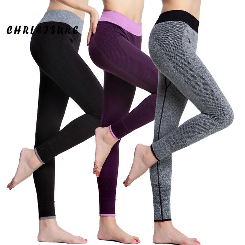 [해외]CHRLEISURE 여성 레깅스 스판덱스 슬림 탄성 편안한 하이 웨스트 슈퍼 스트레치 운동 바지 스포츠 레깅스 여성/CHRLEISURE Women Leggings Spandex Slim Elastic Comfortable High Waist Super Stret