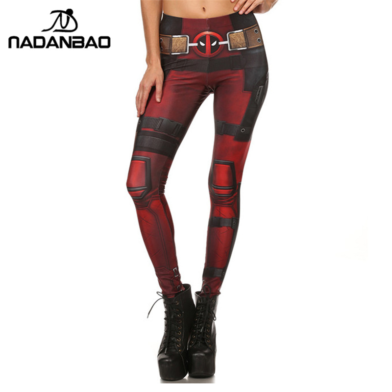 [해외]NADANBAO 새로운 패션 여성 레깅스 슈퍼 영웅 데드 풀 레깅스 여성용 바지 프린트이 다리/NADANBAO New Fashion Women leggings Super HERO Deadpool Leggins Printed legging for Woman pan