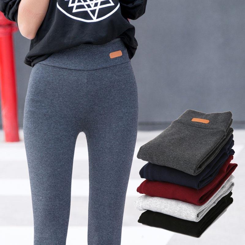 [해외]캐주얼 Thicken 코튼 레깅스 여성 가을 ??신 패션 피트 니스 슬림 피트 발목 길이 레깅스 Lable 탄성 바지 여성/Casual Thicken Cotton Leggings Women Fall New Fashion Fitness Slim Fit Ankle