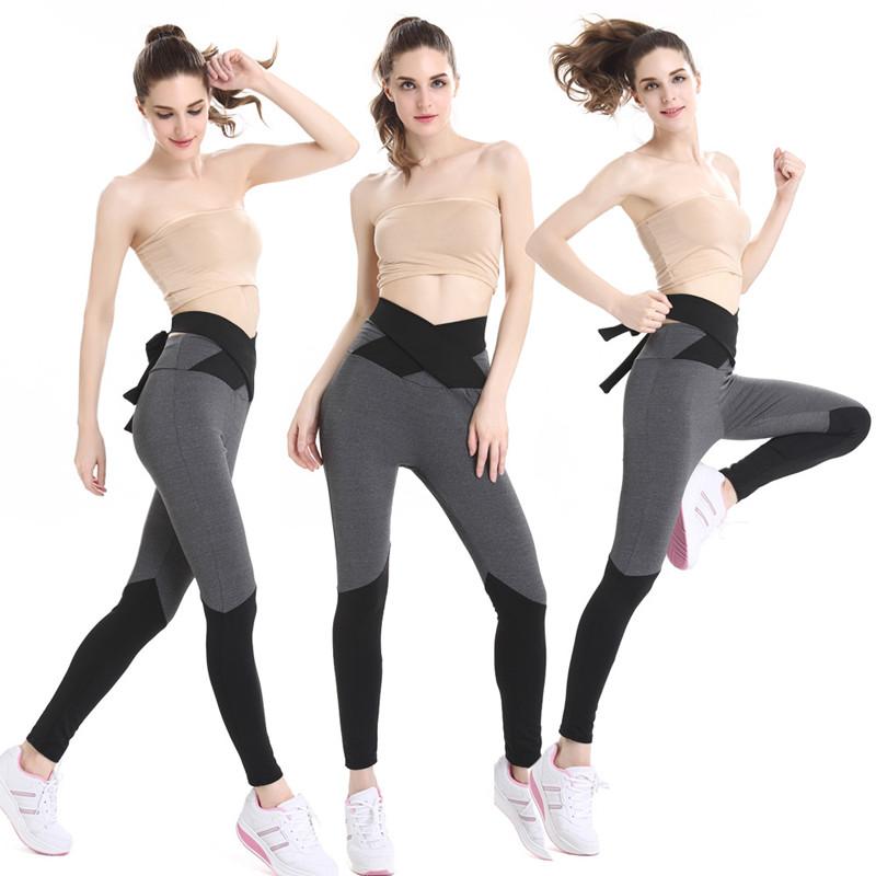 [해외]새로운 여성 운동 레깅스 스키니 블랙 스티치 회색 벨트 피트니스 웜 레깅스 여성용 바지 고탄성 레깅스/New  Woman movement Leggings Skinny Black stitching gray belt Fitness Warm Leggings Women