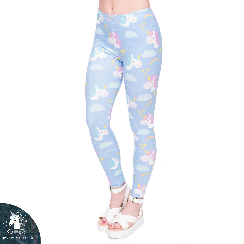 [해외]2017 새로운 패션 유니콘 인쇄 된 여성 레깅스 귀여운 통풍 스키니 여성 바지 Leggins 스트레치 허리 운동 레깅스/2017 New Fashion Unicorn Printed Women Leggings Cute Breathable Skinny Women P