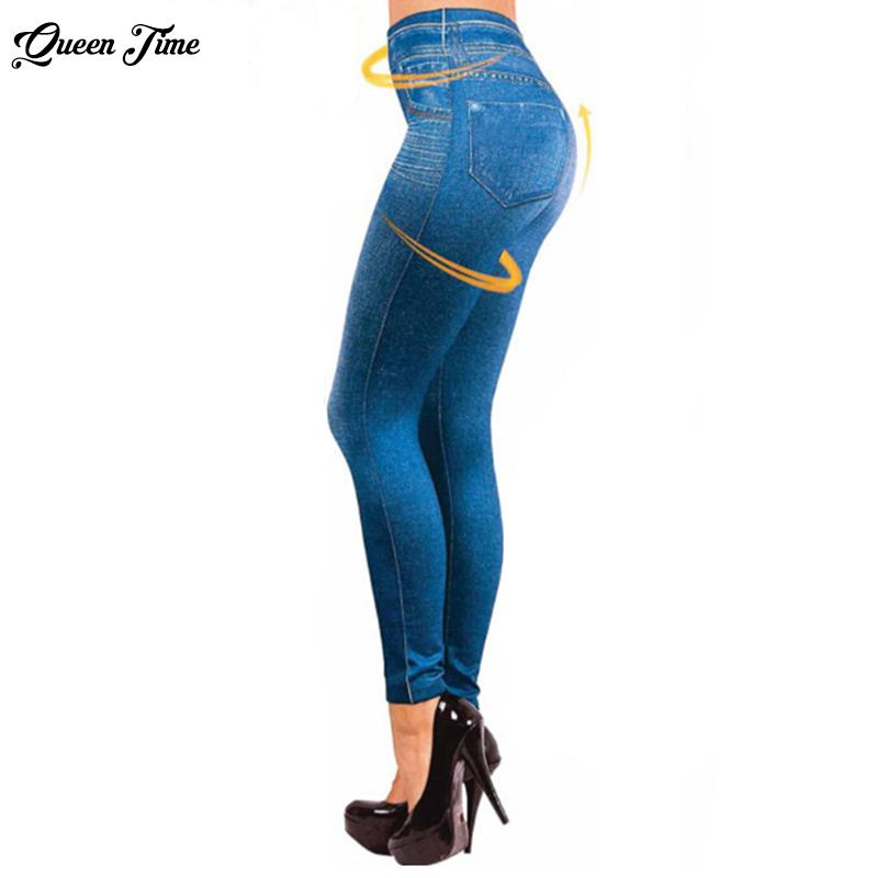 [해외]2017 레깅스 여성 청바지 데님 바지 슬림 레깅스 여성 여성 피트니스 플러스 사이즈 S-3XL 캐주얼 청바지/2017 Leggings Jeans for Women Denim PantsSlim Leggings Women Ladies Fitness Plus Siz