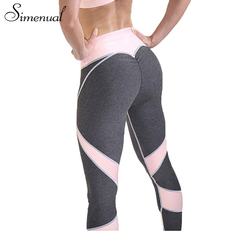 [해외]Simenual 2017 여성을핫 세일 패치 워크 심장 힙합 레깅스 운동복 보디 빌딩 회색 슬림 섹시한 legging 여성 바지 판매/Simenual 2017 Hot sale patchwork heart hip leggings sportswear for wome