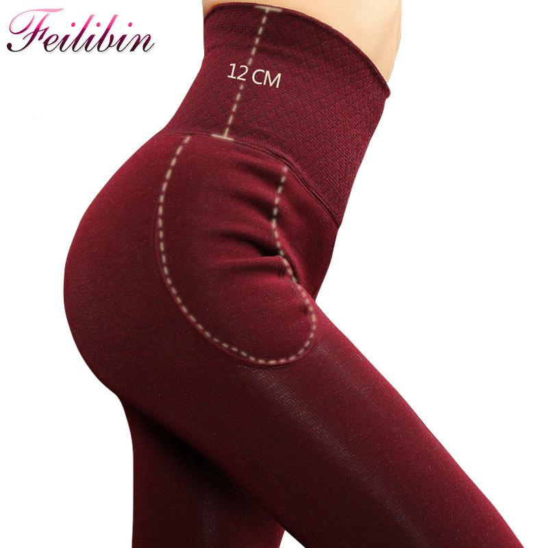 [해외]Feilibin 2017 새로운 여성 레깅스 겨울 따뜻한 바지 하이 웨이스트 Thicken 고탄력 여성 & Warm Velvet Leggings/Feilibin 2017 New Women Leggings Winter Warm Pants High Waist