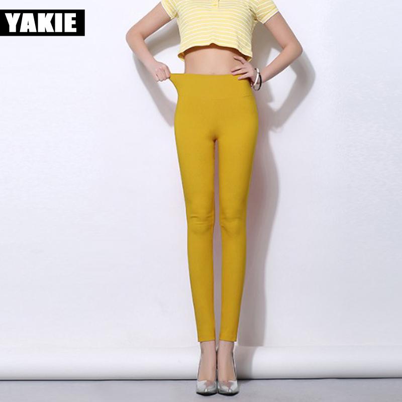 [해외]18 색 High Waist Women Pencil Pants 2017 Candy 컬러 스트레치 레깅스 PLUS 사이즈 5XL 여성 캐주얼 바지 Femme Pantalon/18 colors High Waist Women Pencil Pants 2017 Candy