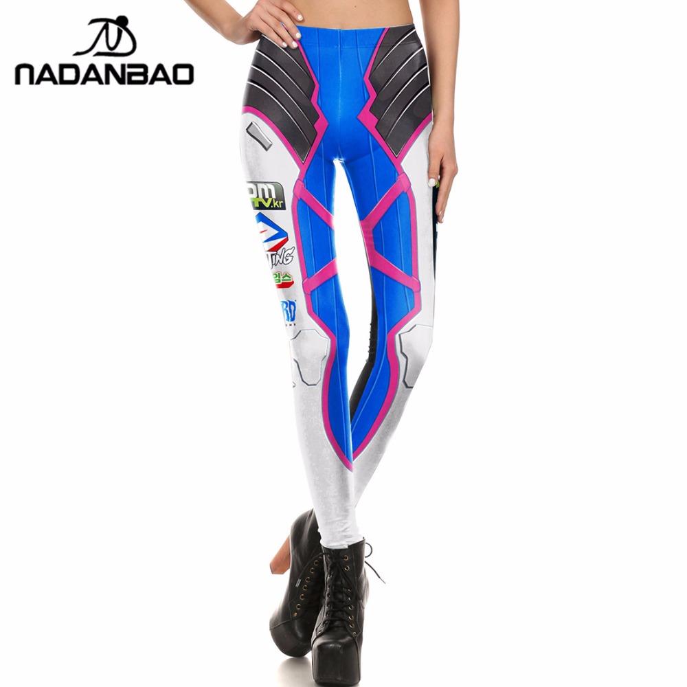 [해외]NADANBAO 브랜드 여성 레깅스 Super HERO D.VA 게임 레깅스 여성용 바지 레깅스/NADANBAO Brand  Women leggings Super HERO D.VA Game Leggins Printed legging for Woman pants