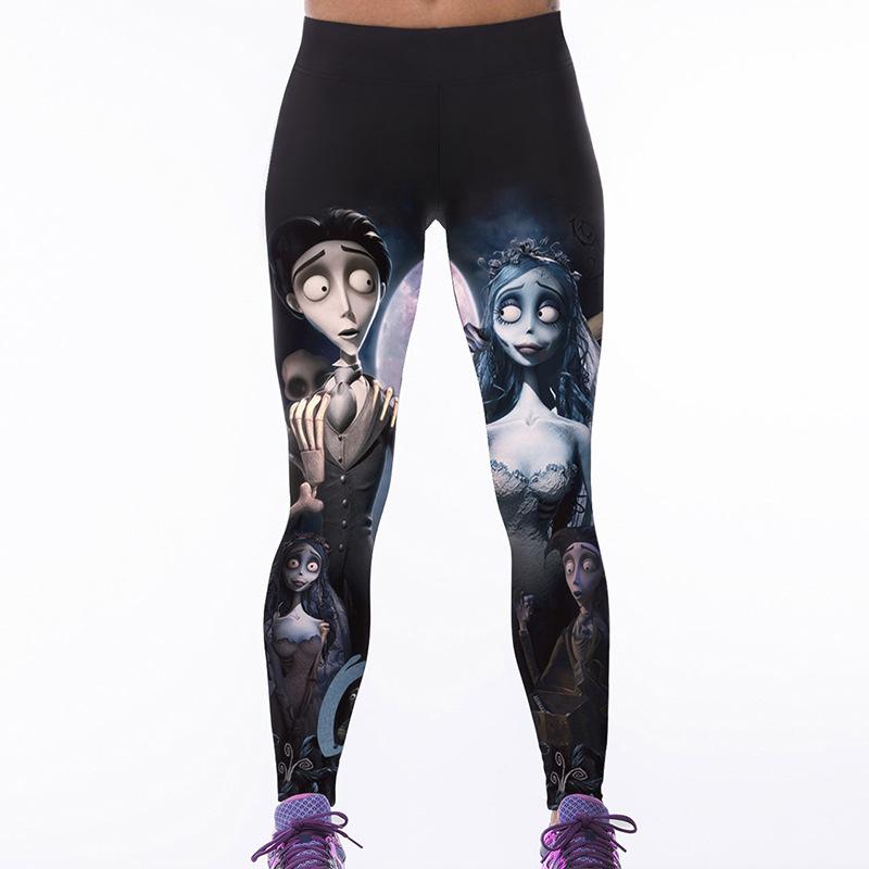 [해외]S-XXXXL 여성 & 레깅스 레깅스 인물 해골 3D 프린트 레깅스 여성 의류 모험 게임 여성 레깅스 플러스 사이즈/S-XXXXL Women&s Fitness Leggings Personality Skeleton 3D Printed Leggings Fem