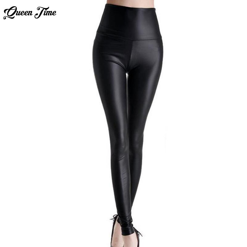 [해외]고품질 슬림 레깅스 여성 레깅스 가짜 가죽 플러스 사이즈 높은 탄성 섹시한 바지 leggins L-xl 가죽 부츠 레깅스/high quality slim leggings women leggings faux leather plus size High elastici
