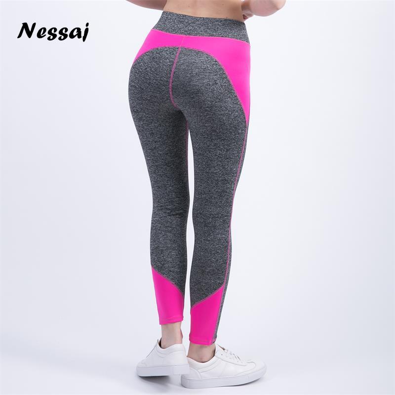 [해외]Nessaj 여성 레깅스 여성용 하이 웨이스트 피트니스 바지 Legging 운동 활동 레깅스 Bodybuilding Clothes Body Shapers/Nessaj Women Leggings For Female High Waist  Fitness Pants L