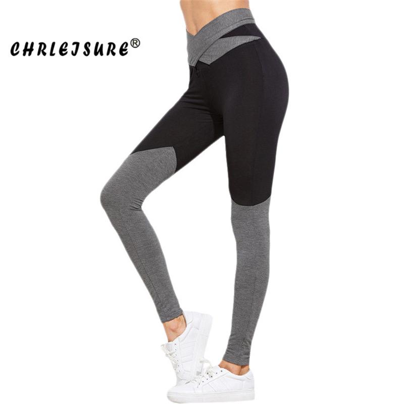 [해외]CHRLEISURE S-XL 새로운 하이 웨이스트 보우 레깅스 여성 컬러 패치 워크 신축성 피트니스 레깅스 바지 트렌디 한 운동 용 레깅스/CHRLEISURE S-XL New High Waist Bow Leggings Women Color Patchwork El