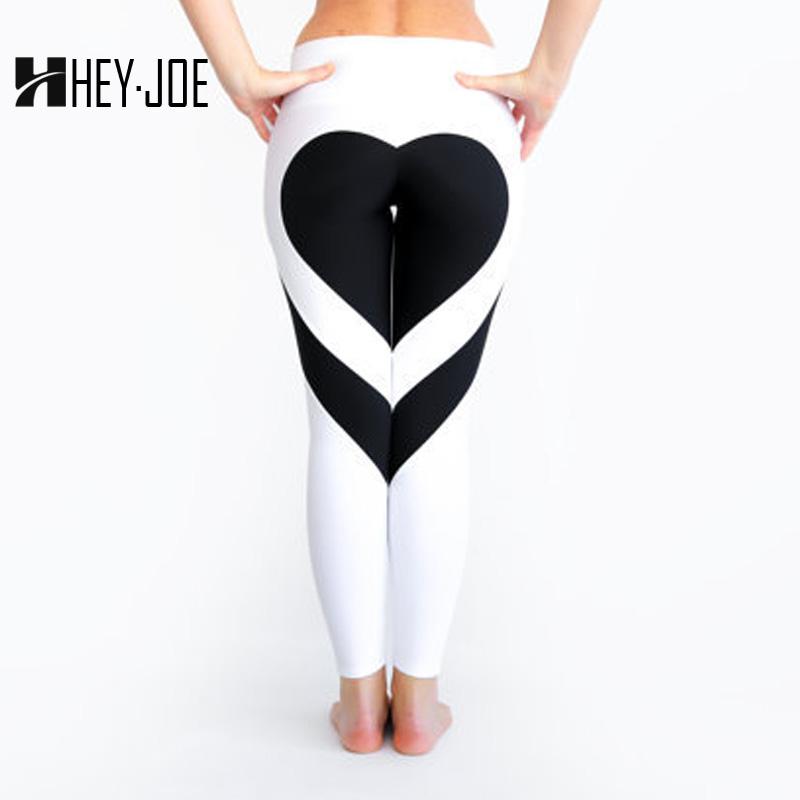 [해외]HEYJOE 하트 패턴 메쉬 스플 라이스 레깅스 하라주쿠 운동복 피트니스웨어 스포츠웨어 탄성 스포츠 레깅스 여성 바지/HEYJOE Heart Pattern Mesh Splice Legging Harajuku Athleisure Fitness Clothing Sp