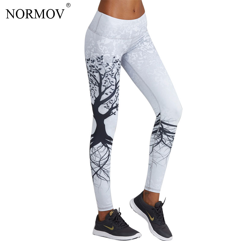 [해외]NORMOV 패션 3D 인쇄 레깅스 여성은 높은 허리의 레깅스를 푸십시오 3D 디지털 트리 인쇄 슬림 폴리 에스터 하라주쿠 레깅스 XS-L/NORMOV Fashion 3D Printed Leggings Women Push Up High Waist Leggings