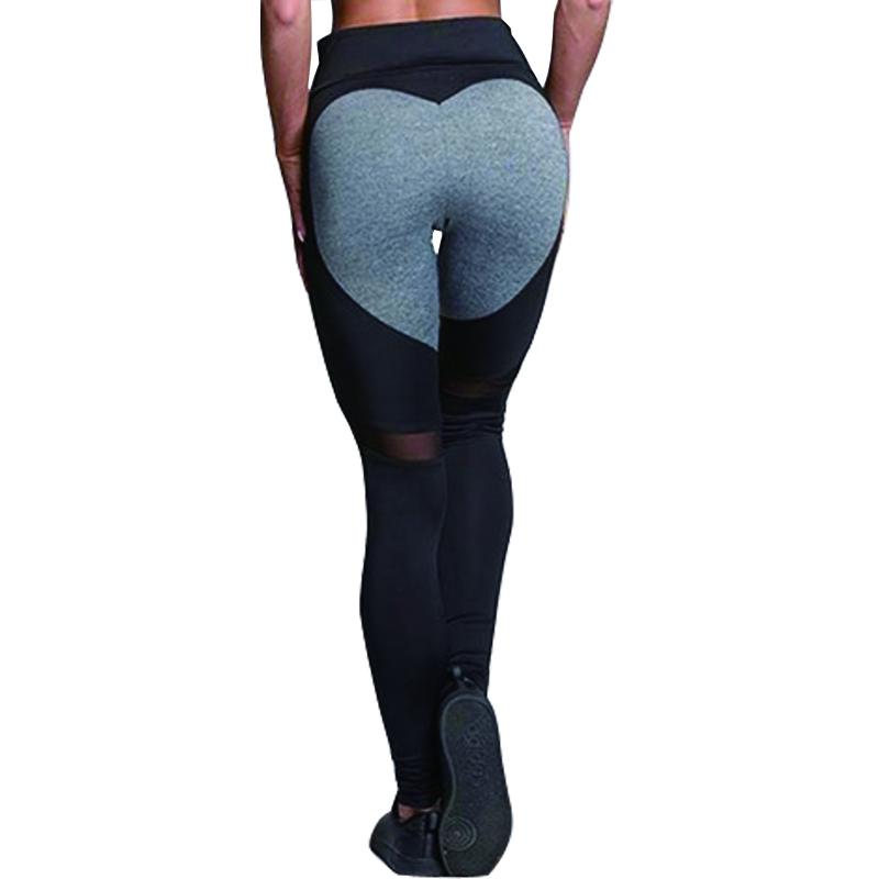 [해외]Hayoha 패션 하트 패턴 메쉬 스플 라이스 레깅스 Athleisure 피트니스 의류 탄성 레깅스 여성 바지/Hayoha Fashion Heart Pattern Mesh Splice Leggings Athleisure Fitness Clothing Elasti
