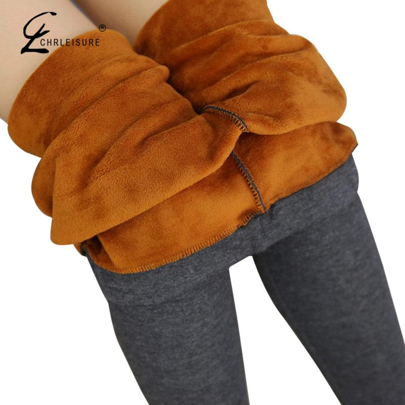[해외]CHRLEISURE XL-6XL 플러스 사이즈 겨울용 레깅스 여성용 바지 따뜻한 벨벳 레깅스 두꺼운 Jeggings Slim High 스트레치 레깅스 2 색/CHRLEISURE XL-6XL Plus Size Winter Leggings Women Pants Wa