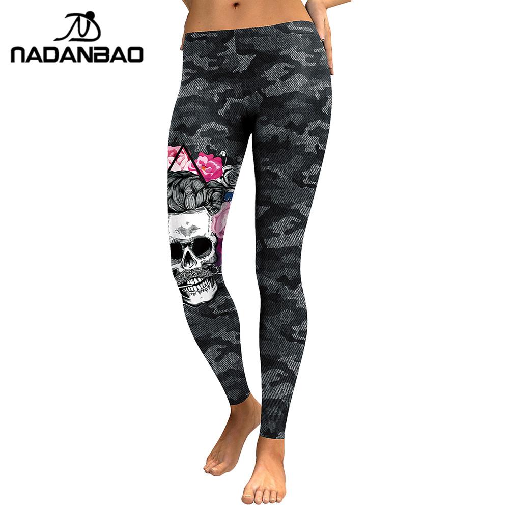 [해외]NADANBAO 새로운 도착의 레깅스 여성 해골 헤드 3D 프린트 위장 레깅스 피트 니스 레깅스 슬림 탄성 바지 바지 Legins/NADANBAO New Arrival Leggings Women Skull Head 3D Printed Camouflage Legg