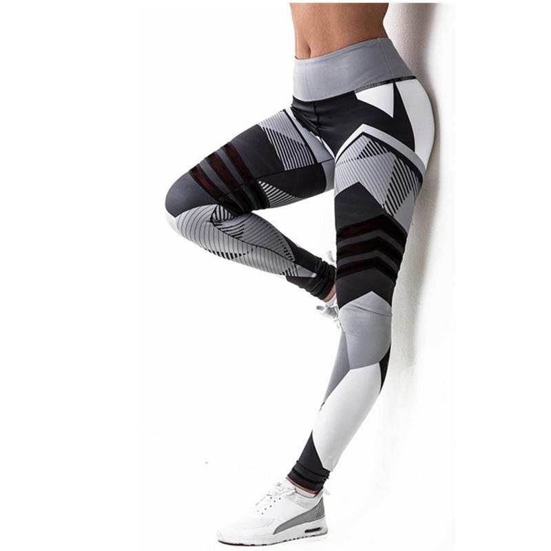 [해외]HU & GH 2017 여성용 다리 띠 고탄력 레깅스 여성용 여성용 다리 돋복 바지 업 복장 스포티 한 레깅스/HU&GH 2017  Women Leggings High Elastic Leggings Printing Women Fitness Legg