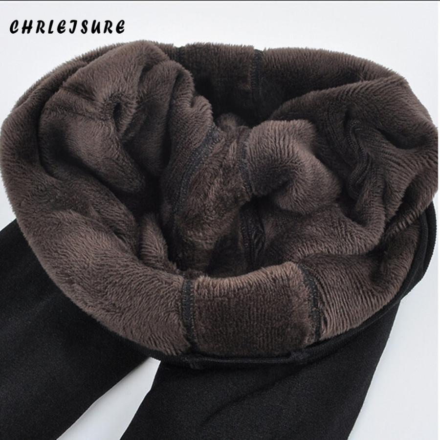 [해외]CHRLEISURE 따뜻한 여성 & 벨벳 레깅스 겨울 발목 길이 따뜻한 솔리드 팬츠 하이 웨이스트 대형 여성 레깅스/CHRLEISURE Warm Women&s Plus Velvet Leggings Winter Ankle-Length Keep Warm So