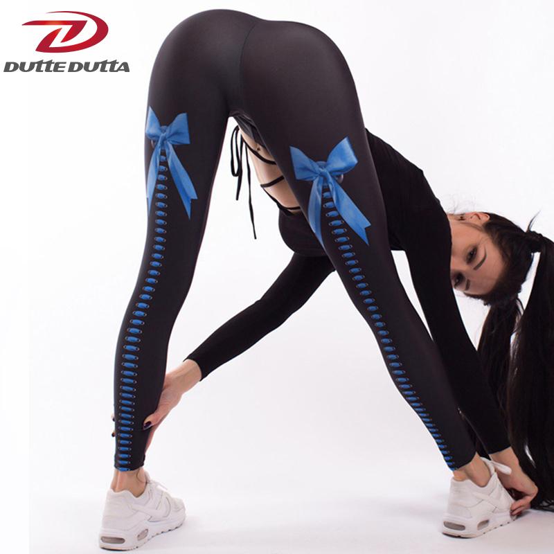 [해외]DutteDutta 활 인쇄 스포티 한 레깅스 휘트니스 여성 인쇄 슬림 Legging 없음 투명 탄성 스포츠 바지 여성 Ropa Mujer/DutteDutta Bow Print Sporting Leggings Fitness Women Print Slim Legg